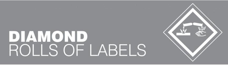 Hazardous Substance Diamond Labels