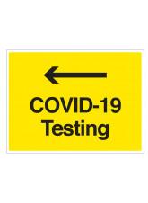 COVID-19 Testing (arrow left)