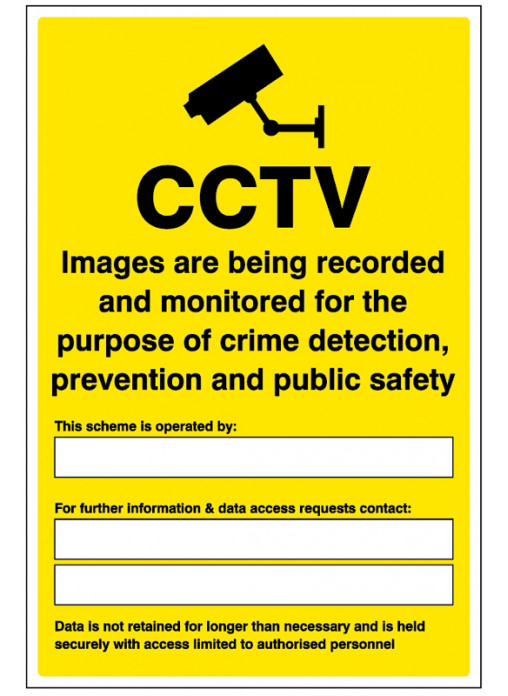 Gdpr Cctv Compliant Safety Signs