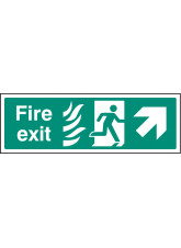 HTM Fire Exit - Arrow Up Right