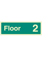 """Floor 2"" - Floor Level Dwelling ID Signs"