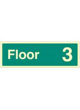 """Floor 3"" - Floor Level Dwelling ID Signs"