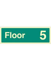 """Floor 5"" - Floor Level Dwelling ID Signs"