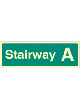 Stairway A - Stairway Dwelling ID Signs