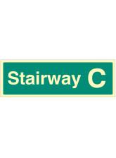 Stairway C - Stairway Dwelling ID Signs