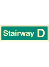 Stairway D - Stairway Dwelling ID Signs
