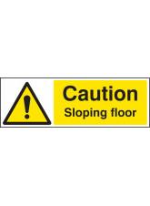 Caution Sloping Floor