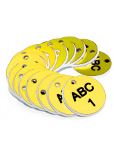 Engraved Valve Tags - Yellow with Black Text