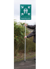 Mobile Assembly Point - Aluminium with Pole - 450 x 600mm