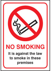 No Smoking it Is Against the Law - (England and Northern Ireland)