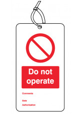 Do Not Operate - Double Sided Safety Tag (Pack of 10)