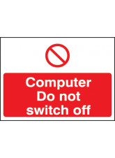 Computer Do Not Switch Off Label - 35 x 25mm