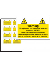 10 x Electrical Hazard Label - 75 x 50mm