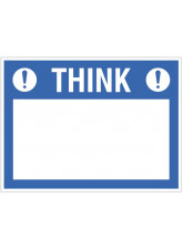 """Small Wipe Clean Board """"Think (Write your Message)"""""""