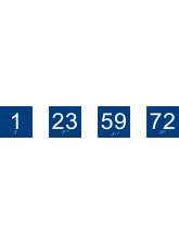 Braille - Door Number - 75 x 75mm
