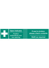 50xFirst Aid BoxTamper Labels - 82 x 23mm
