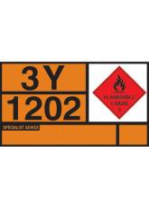 Hazchem Placard - Diesel / Gas Oil Self Adhesive Vinyl