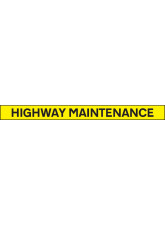 Highway Maintenance - Reflective Self Adhesive Vinyl - 1300 x 100mm