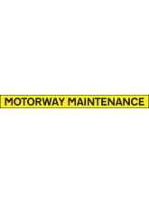 Motorway Maintenance - Reflective Self Adhesive Vinyl - 1300 x 100mm