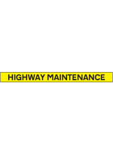 Highway Maintenance - Reflective Magnetic - 1300 x 100mm
