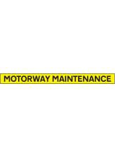 Motorway Maintenance - Reflective Magnetic - 1300 x 100mm