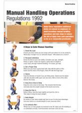 Manual Handling Operations Regulations 1992 Poster