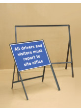 Road Sign Frame Double Sided - 600 x 450mm - 450mm Legs