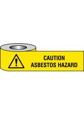 Caution Asbestos Hazard Barrier Tape - 75mm x 250m