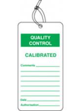 QC Tag - Calibrated (Pack of 10)