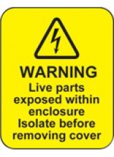 Warning Live Parts within Enclosure Labels