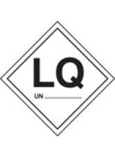 Roll of 100 LQ UN Labels - 100 x 100mm
