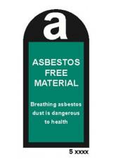 Asbestos Free Material Labels