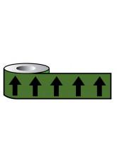 Pipeline ID Black Arrows On Green (12D45) - 50mm x 33m