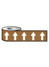 Pipeline ID White Arrows On Brown (06C39) - 50mm x 33m
