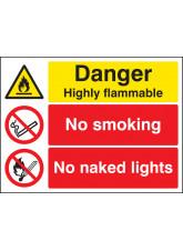 Danger Highly Flammable No Smoking No Naked Lights