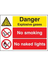 Danger Explosive Gases No Smoking No Naked Lights