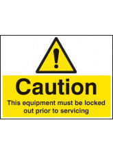 Caution this Equipment Must be Locked Out Prior to Servicing
