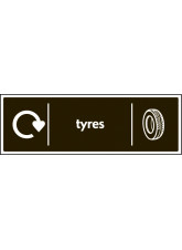 WRAP Recycling Sign - Tyres