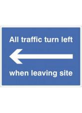 All Traffic Turn Left when Leaving Site