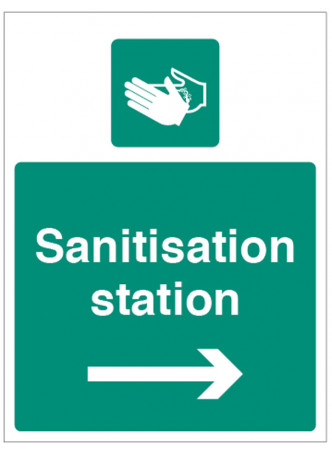 Sanitisation Station - Arrow Right