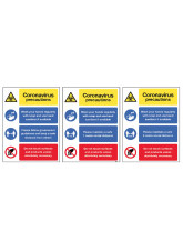 Coronavirus Precautions Multi-Message - 1m / 2m / Generic Distance Options