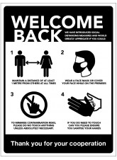 Welcome Back - Social Distancing Measures