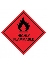 Highly Flammable Labels
